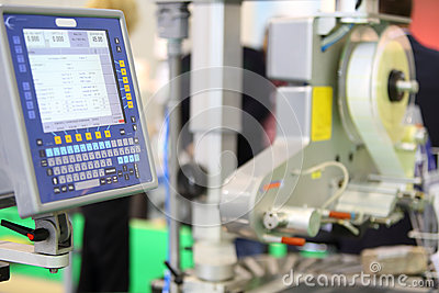 Instrument panel for sorting food device Editorial Stock Photo