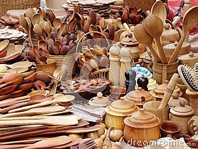 Instrumentos de madera de la cocina fotos de archivo for Instrumentos de cocina profesional