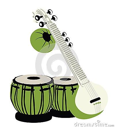 Instrumentos musicais indianos