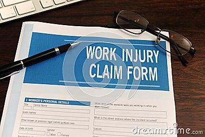 insurance: blank work injury claim form