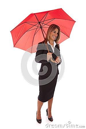 Insurance businesswoman