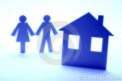 Insurance Couple Silhouette Home