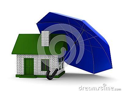 Insurance of habitation. Isolated 3D image