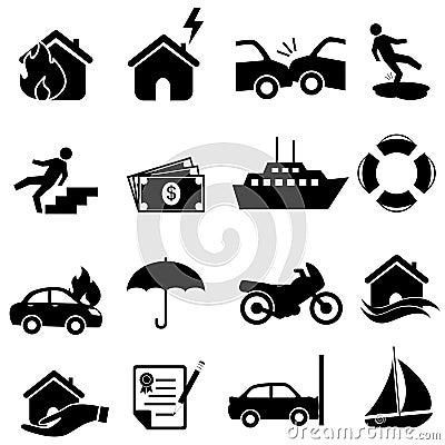 Insurance icon set