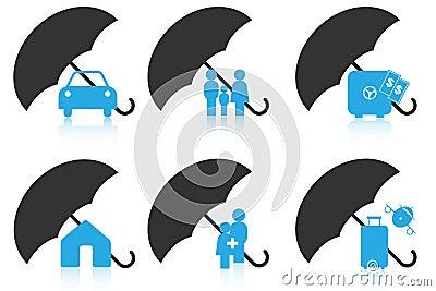 Insurance icons Vector Illustration