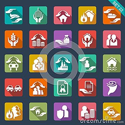 Free Insurance Icons Stock Photos - 33669083
