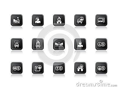 Insurance icons orange