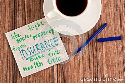Insurance on a napkin
