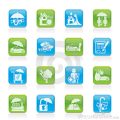 Insurance and risk icons