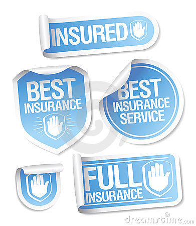 Insurance service stickers.