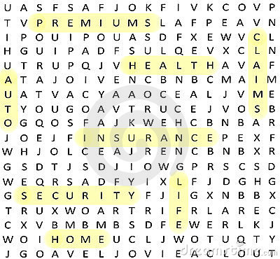 Insurance terms Word Search