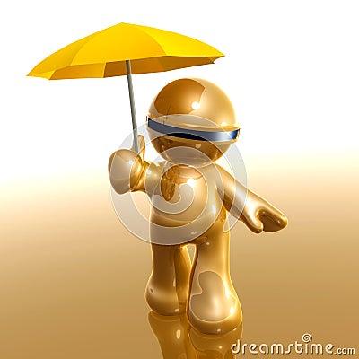 Insurance umbrella metaphor icon symbol