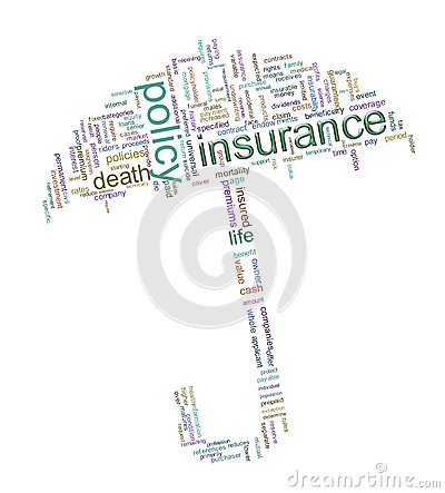 Free Insurance Word Tags Royalty Free Stock Photography - 24682267