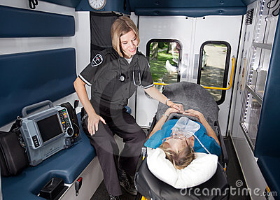 Intérieur d ambulance