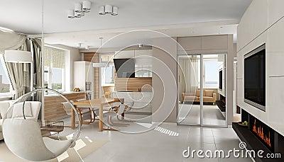 int rieur d 39 appartement de luxe moderne photo libre de. Black Bedroom Furniture Sets. Home Design Ideas