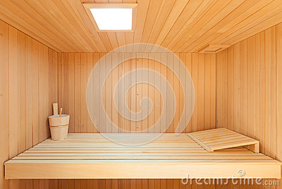 int rieur d 39 un sauna en bois photo stock image 55463376. Black Bedroom Furniture Sets. Home Design Ideas