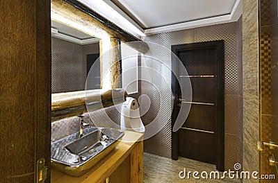 int rieur d 39 une toilette de luxe photo stock image 48724180. Black Bedroom Furniture Sets. Home Design Ideas