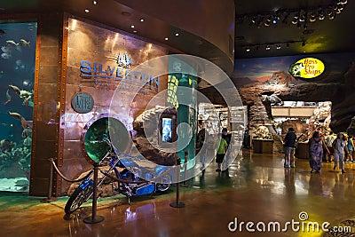 Intérieur de casino de Silverton à Las Vegas, nanovolt le 20 août 2013 Image stock éditorial