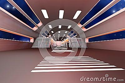 Intérieur de station spatiale