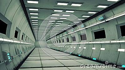 int rieur de vaisseau spatial vue centrale avec le plancher illustration stock image 44419795. Black Bedroom Furniture Sets. Home Design Ideas