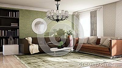 Intérieur du salon Illustration 3D illustration stock
