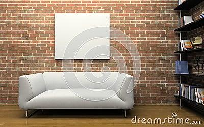 Int Rieur Moderne Avec Le Mur De Briques Photo Libre De