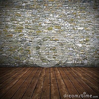 Int rieur vide avec le mur en pierre for Le vide interieur