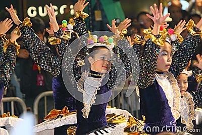 Hong Kong :Intl Chinese New Year Night Parade 2011 Editorial Photography