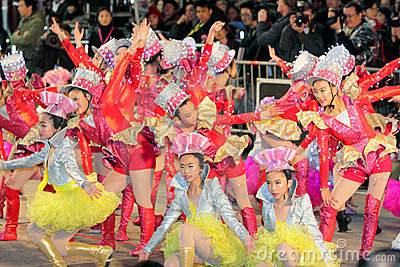 Hong Kong :Intl Chinese New Year Night Parade 2012 Editorial Photography