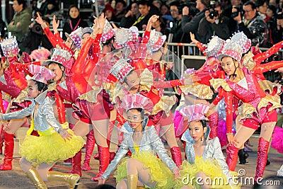 Hong Kong :Intl Chinese New Year Night Parade 2012 Editorial Photography