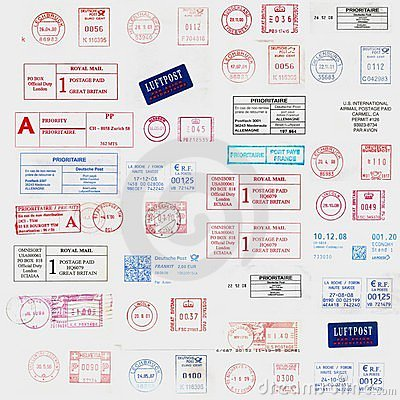 Inte4rnational postage stamps