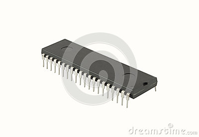 Integrated circuit isolated on the white background