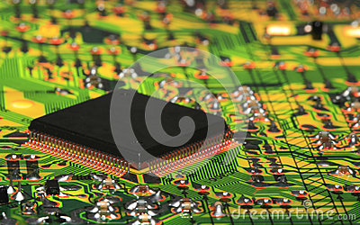 Integrated Circuit from Modern Electronic Equipment