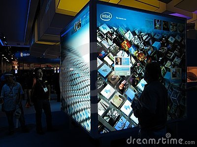 Intel touchscreen display at CES 2010 Editorial Photo