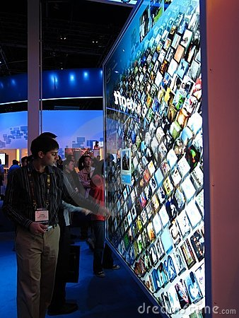 Intel touchscreen display at CES 2010 Editorial Photography
