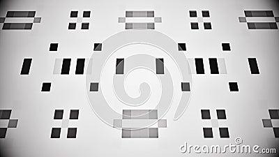 Inteligencia artificial blanca negra AI - fondo V2 de la ciencia ficción del lazo de VJ ilustración del vector