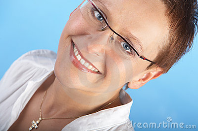 Intelligent Looking Female. Stock Photo - Image: 604610