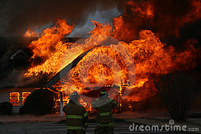 An Intense Blaze, Dramatic House Fire