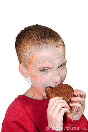 Intense Boy Biting Chocolate Heart 2