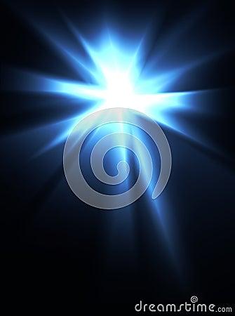 Intense bright light burst