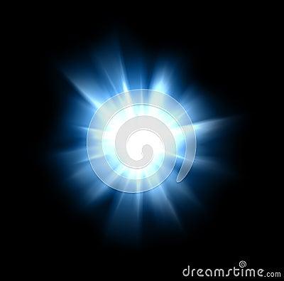 Intense burst of bright light