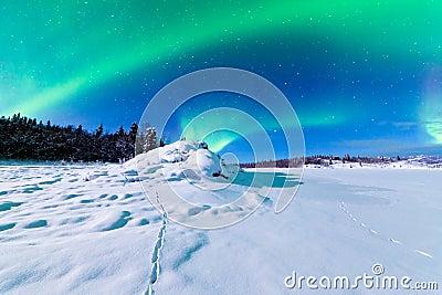 Intense display of Northern Lights Aurora borealis