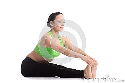 intense dorsal stretch yoga pose stock photo  image 52840113