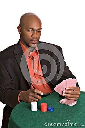 Intense gambler