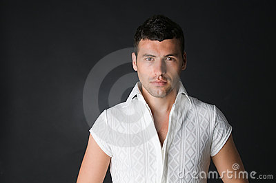 Intense Gaze Guy Royalty Free Stock Photography - Image: 5636027
