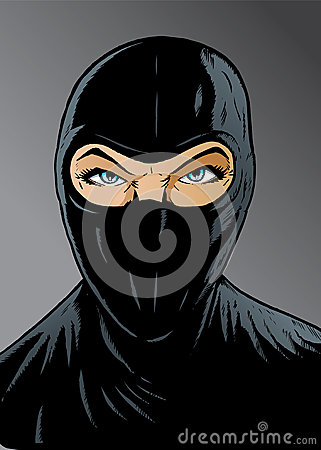 Free Intense Ninja Girl, Thief Or Special Forces. Stock Photography - 28596252