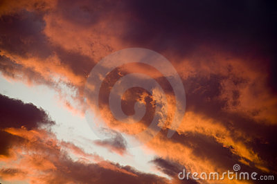 Intense Sunset Clouds