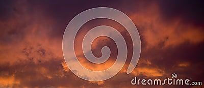 Intense Sunset Clouds