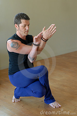 Intense yoga Squat