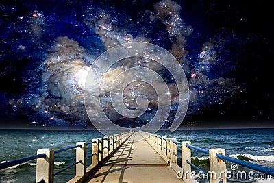 Inter-Galactic Space Beach